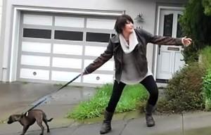 human leash pulling