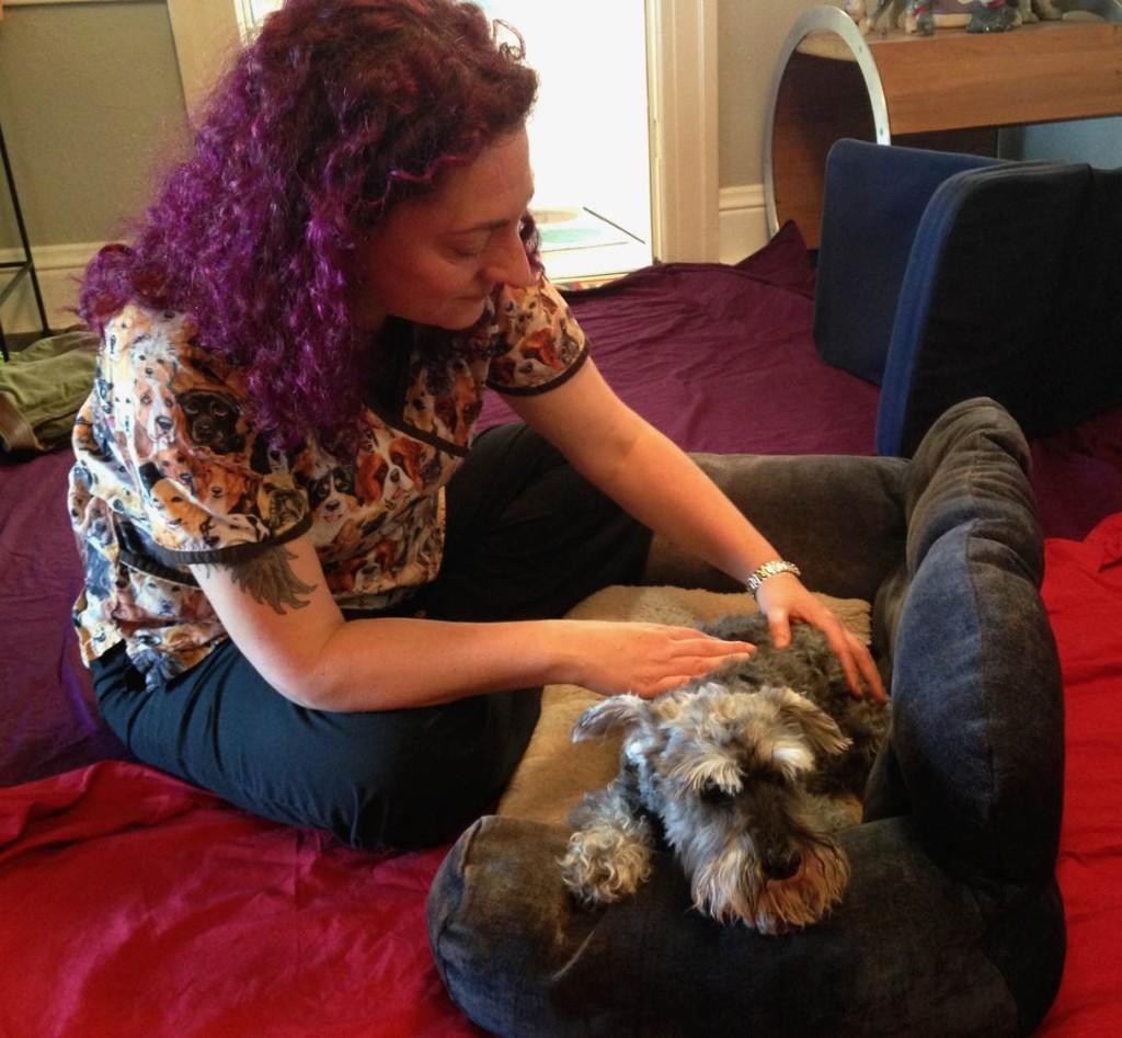 Relaxing Rex Dog Massage
